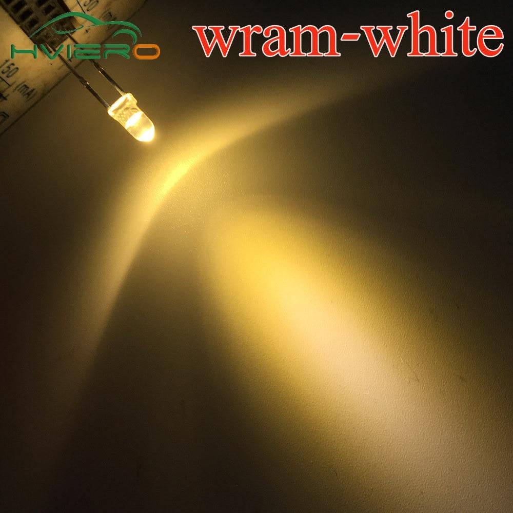 1000pcs F3 3mm Round Warm White Diode Led water clear Super Bright Light Bulb 3.0~3.2V 3000~3200K Led Light-emitting diodes Lamp