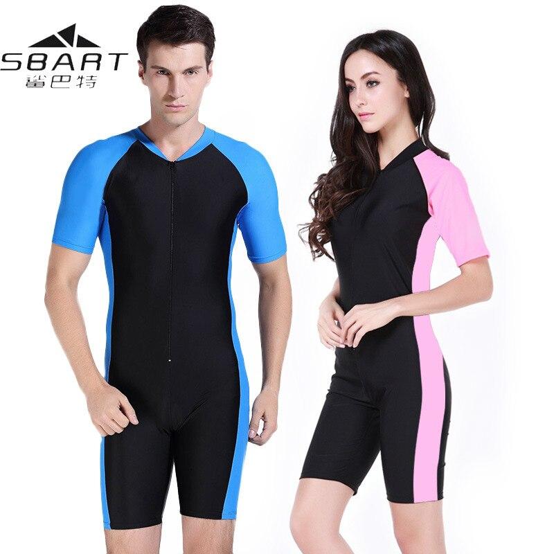 Sbart Wetsuit mayo kadın erkek likra kısa kollu UV geçirmez sörf sörf yüzme mayo mayo tüplü dalgıç kıyafeti Wetsuits