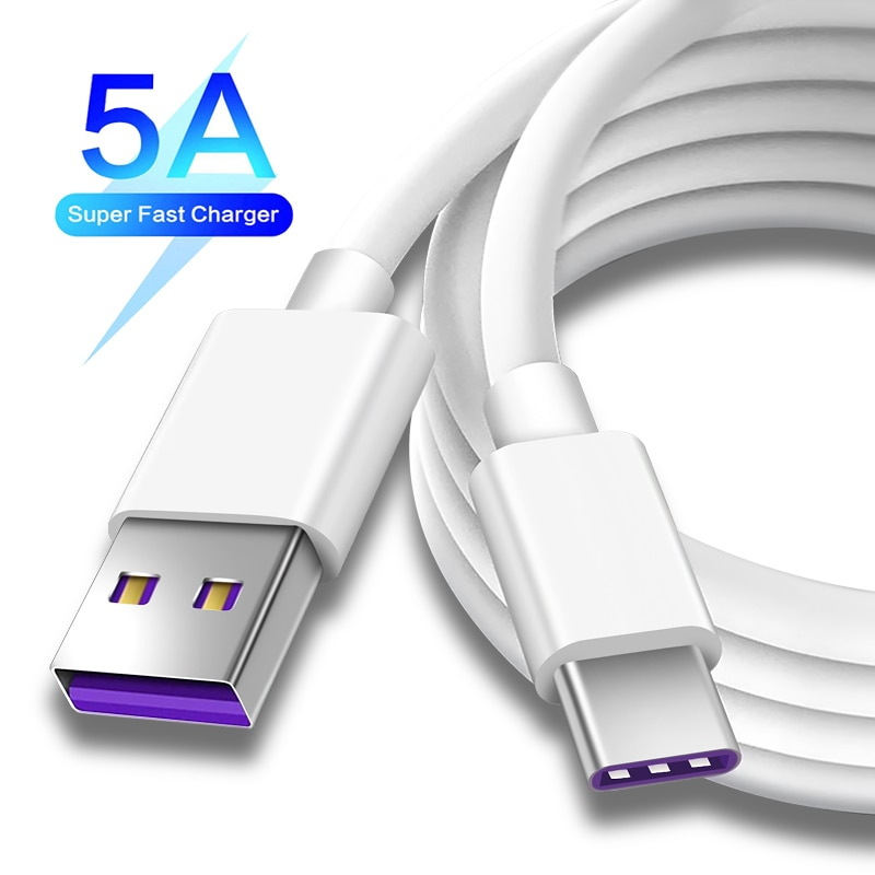 5A usb c cable For Samsung xiaomi redmi note 10 Huawei P30 Pro Fast Charge Mobile Phone Charging Wir
