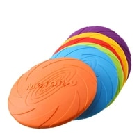1pcs funny silicone flying saucer dog cat toy dog game flying discs resistant chew puppy training interactive pet supplies