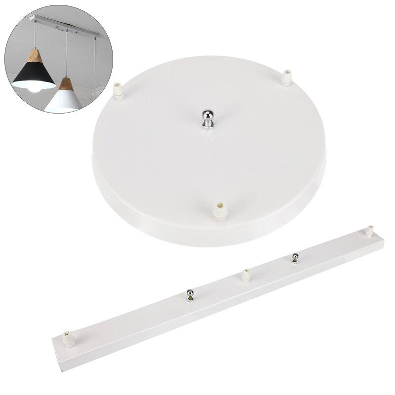 3 agujeros Base de lámpara colgante candelabros accesorios de luz DIY Base para lámpara de celdas placa redonda/Rectangular accesorios de iluminación