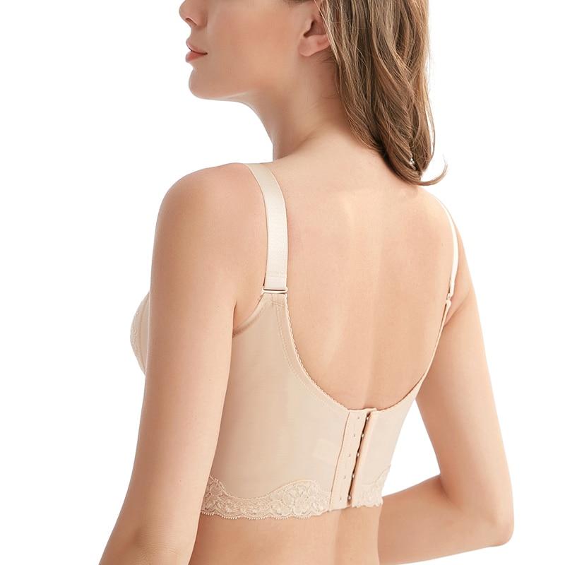 Women's Non-padded Full Coverage No Wire Minimizer Embroidered Bra 34 36 38 40 42 44 46 B C D E F G