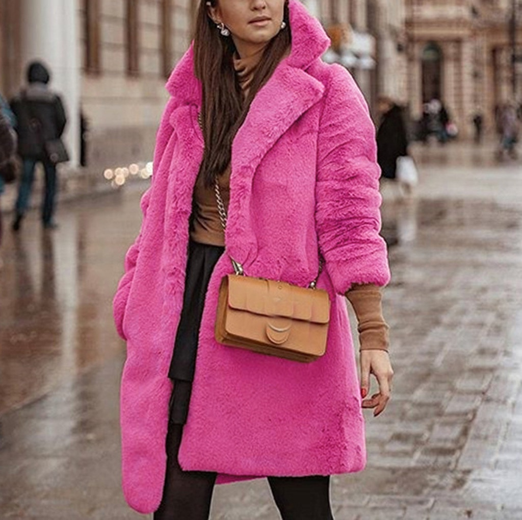 Turn Down Collar Faux Fur Coat Autumn Winter Teddy Bear Jackets Women Warm Jumper Outwear Solid Soft Coat Female manteau femme