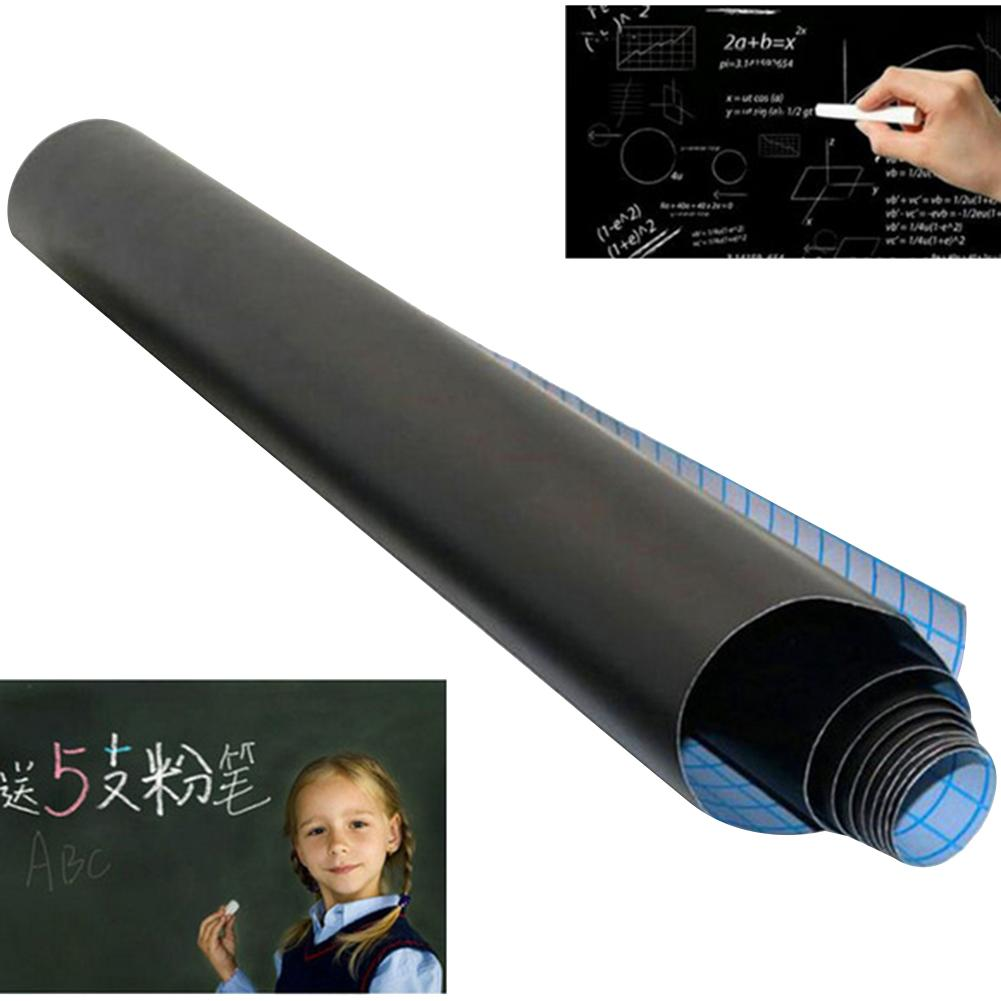 100x45m PVC Impermeável Removível Adesivo de Parede Lousa Quadro Blackboard Etiqueta Preta Escola Blackboard Decalque Home Da Parede