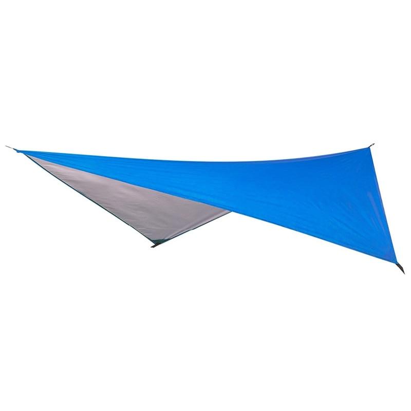 Ultralight Tarp Outdoor Camping Survival Sun Shelter Shade Awning Silver Coating Pergola Waterproof Beach Tent-Blue