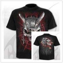 2020 Mens Schedel Punk Stijl Schedel 3D T-shirts Mannen Tops Hip Hop 3d Print Schedel Punisher Tshirt