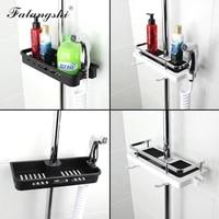 Etagere de salle de bain en plastique ABS  rangement de douche  organisateur de salle de bains avec crochets  porte-shampoing  porte-pomme de douche WB8009