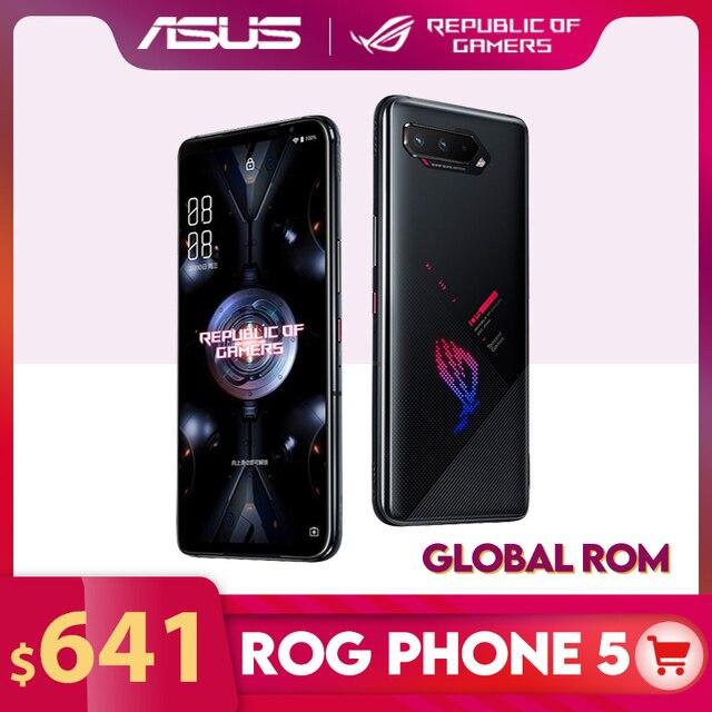 """Новый ASUS ROG Phone 5, Всемирная сотовая Встроенная память Snapdragon888 8/12/16RAM 128/256 ГБ 6000 мАч 6,78 """"144 Гц Коэффициент 65 Вт Зарядное устройство ROG5 игровой чехол для телефона"""