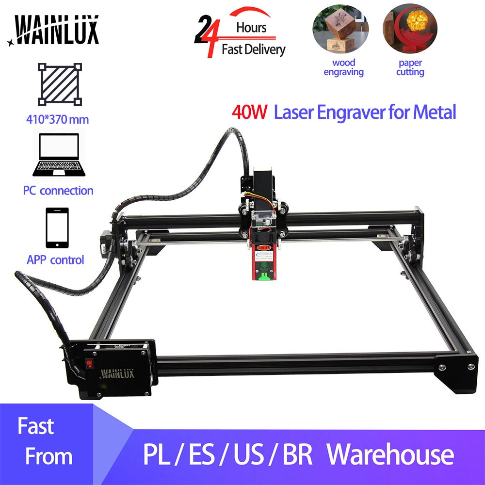 CNC Laser Engraver for Metal 40W Module 30W 20W 7W Laser Engraving and Cutting Machine Woodworking Wood Carving Milling Router
