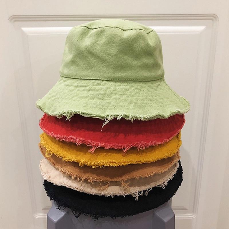 Nuevo sombrero de pescador de verano y otoño, sombrero de cubo de sol, Gorros de moda Unisex de Bob, Gorros de Hip Hop, sombrero de cubo de Panama para hombres y mujeres, regalo exterior