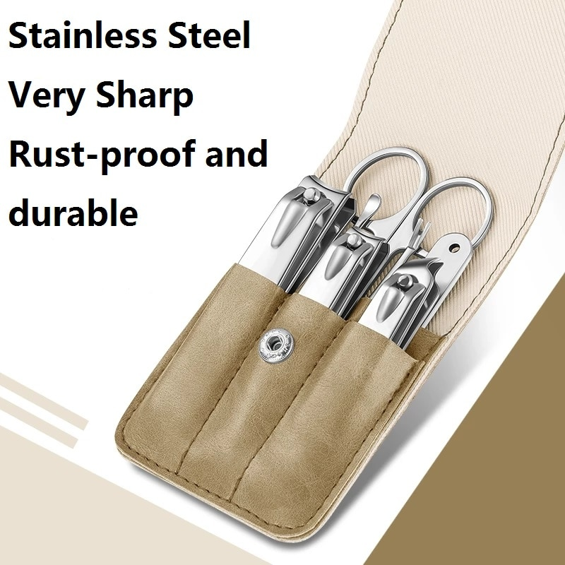 Nail Clippers Set 7 in1 Beauty And Health Tools Stainless Steel Cuticle Scissors Manicure Care Kit C