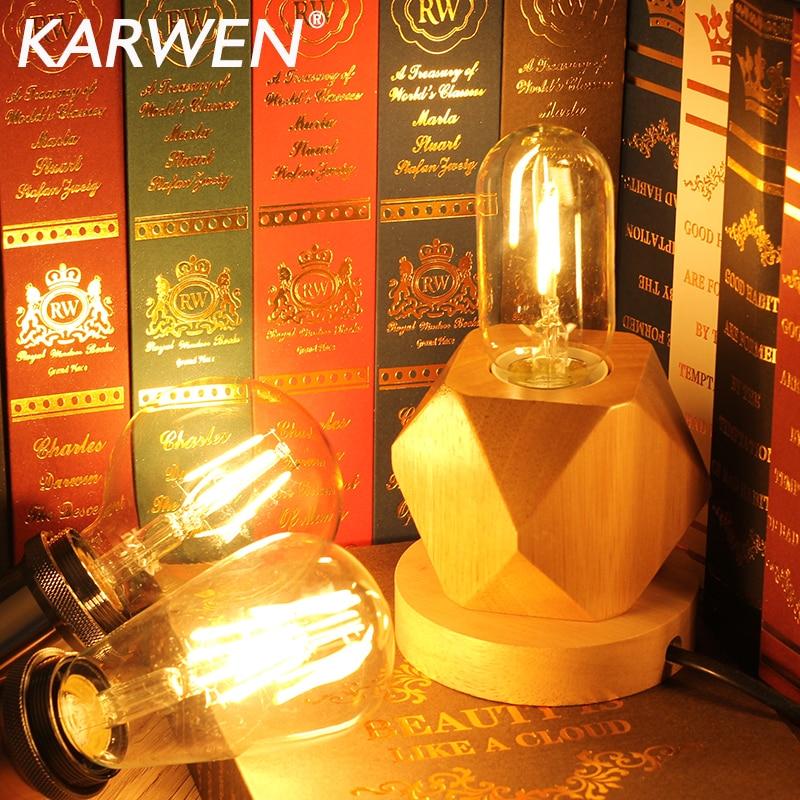 Bombilla de filamento LED Vintage, lámpara Edison antigua de 2W, 4W, 6W,...