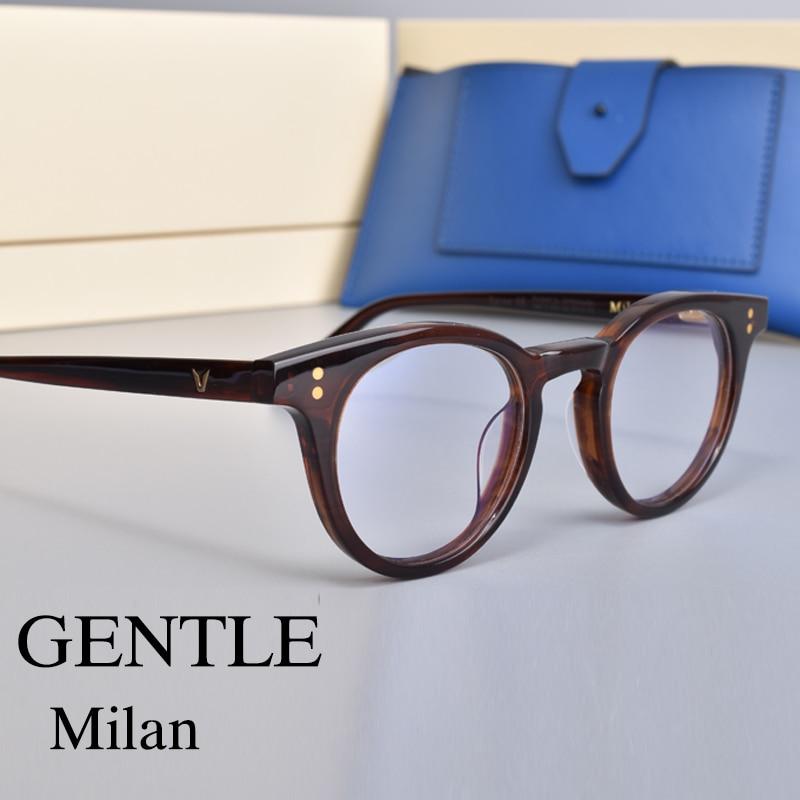 مناسبة ل صغيرة الوجه إطار نظارات خلات الأسيتات لطيف ميلان أوليفر نظارات للقراءة النساء والرجال النظارات الإطار