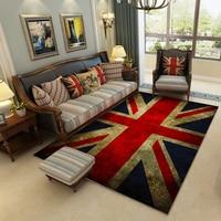 High Quality Retro Carpet British Flag Rugs Soft Anti-slip Suction Floor Mat Home Hotel Outdoor Bedroom Prayer Parlor Blanket