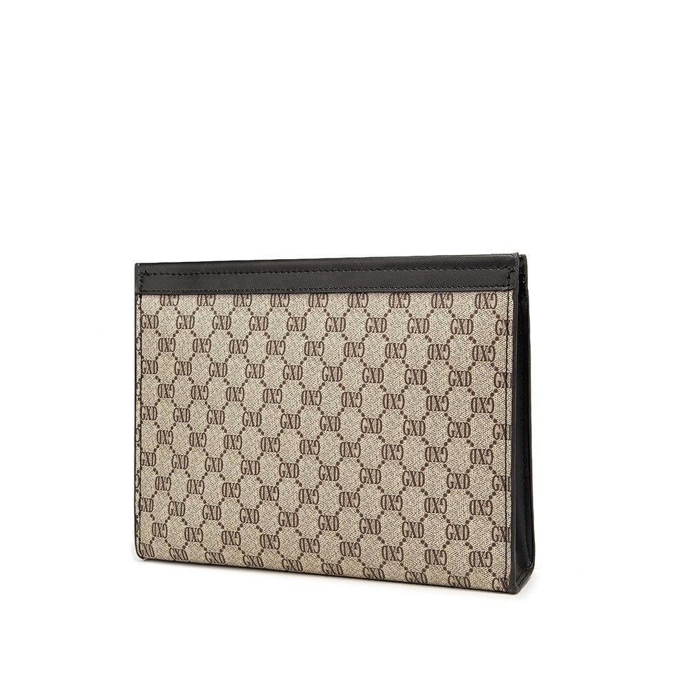 2021 موضة جديدة رجال الأعمال مخلب حقيبة العلامة التجارية الشهيرة تصميم الجلود المغلف حقيبة يد الذكور كبيرة باد الحقائب المال محفظة طويلة