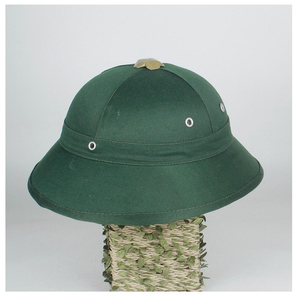 Novedad, Toquilla de plástico para casco, sombreros de sol Pith para papá, guerra de Vietnam, sombrero del ejército, papá, sombrero de cubo, sombrero de Safari para mineros de la jungla