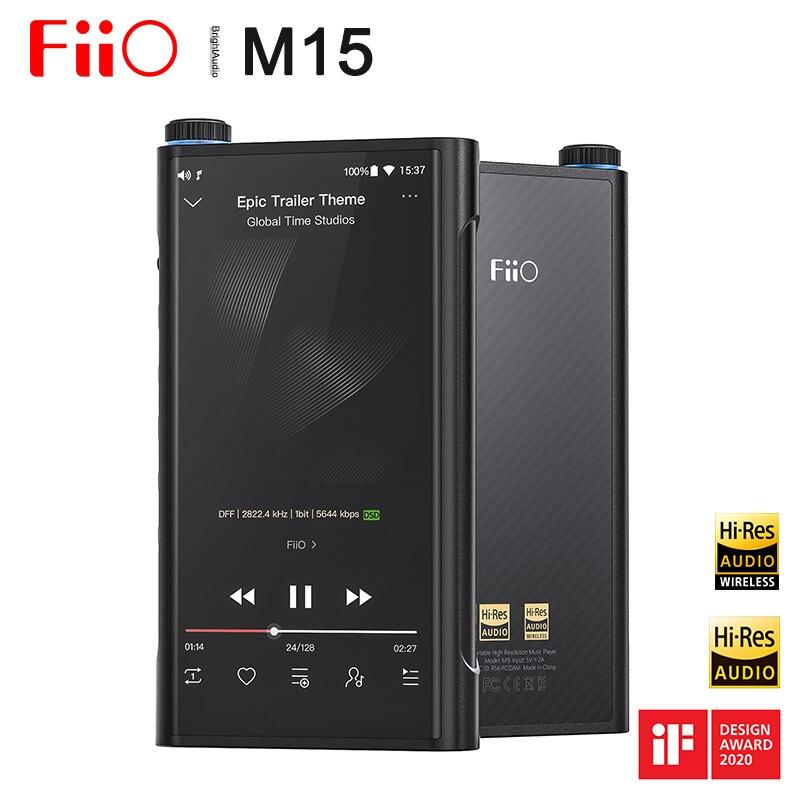 FiiO M15 insignia Android Dual AK4499 Hi-Res portátil Musc jugador MP3 DAC USB Samsung Exynos7872... XMOS XUF208... DSD512 768kHz/32bit