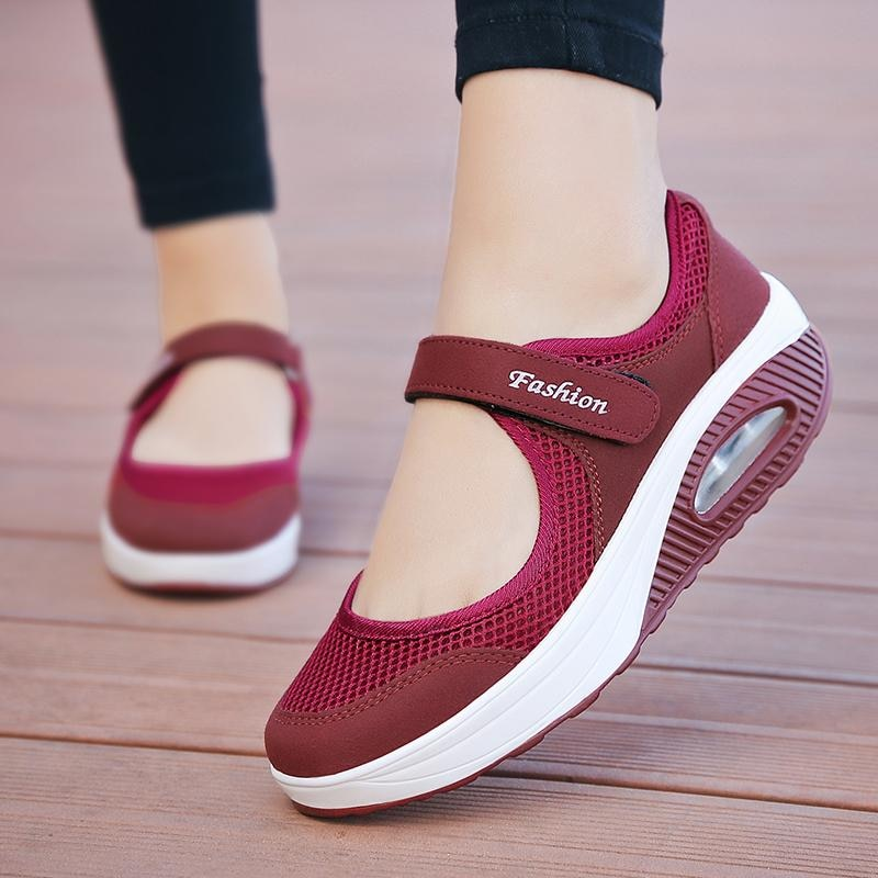 2021 Spring Red Women Vulcanize Shoes Casual Sneakers Female Soft Flat for Lady Lightweight Breathable Zapatos De Mujer Zapatos