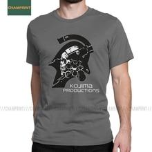 Unique Kojima Productions Death Stranding T-Shirt Men Cotton T Shirt Hideo Metal Gear Solid Reedus Game Mgs Short Sleeve Tees