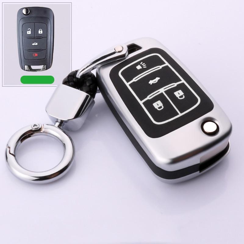 De aleación de coche luminoso clave cubierta de la caja para Chevrolet Cruze Aveo Trax Opel Astra Corsa Meriva Zafira Antara J Mokka Insignia para Buick