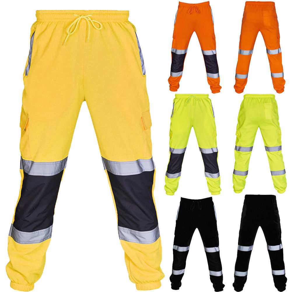 Спортивные оранжевые, зеленые, желтые джоггеры, новая мода, флисовые джоггеры, Осенние флуоресцентные черные брюки, мужские спортивные джог...