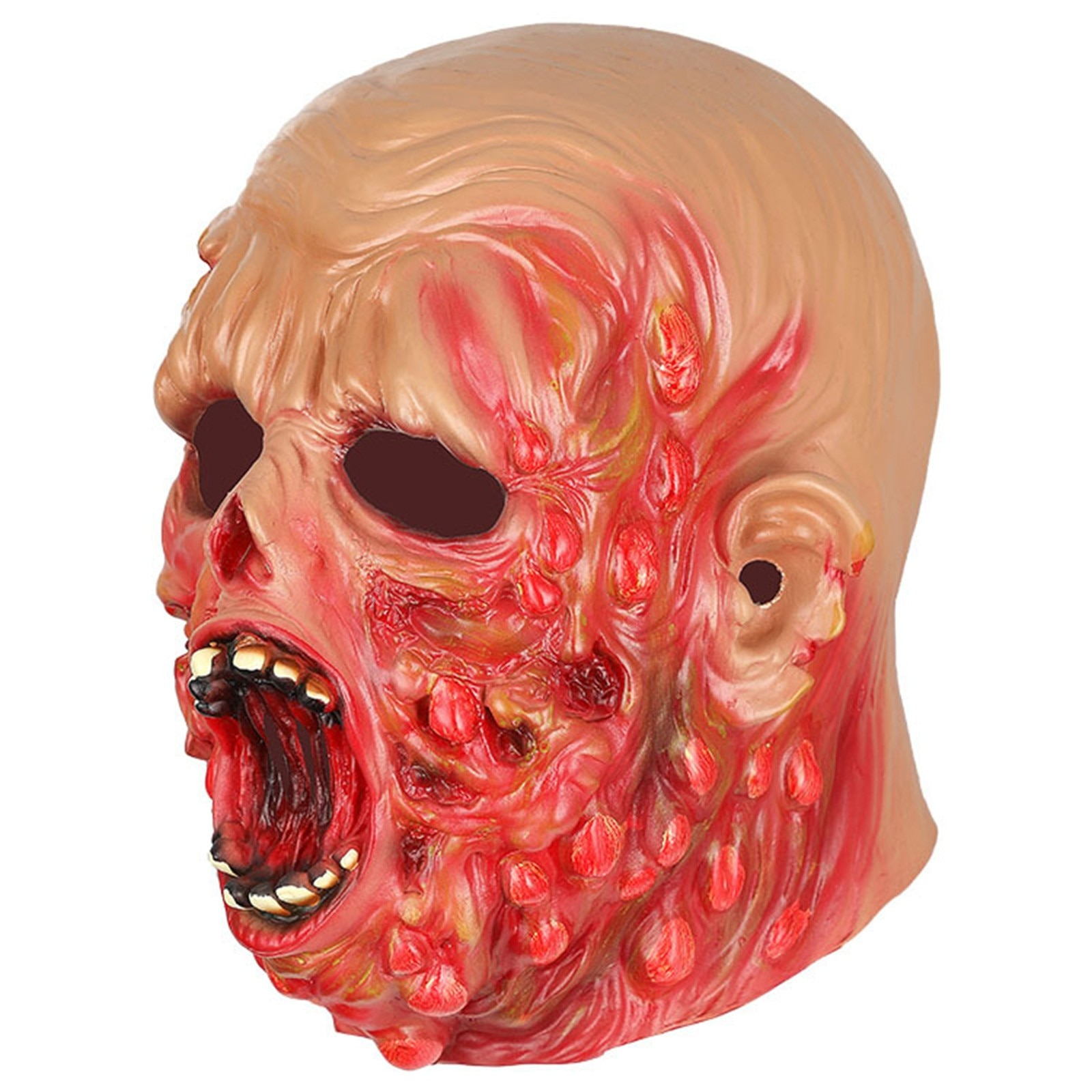 Halloween Scary Mask Ugly Face Horrible Sanguinary Lifelike Zombie Resident Cosplay Toy Evil Ghoul Act Props Masquerade Hoax 할로윈