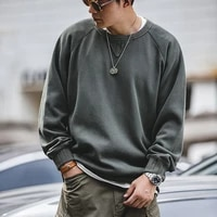 maden vintage mens hoodies sweatshirt oversize male loose cotton solid thicken warm sweatshirts casual knitting hoodied clothes