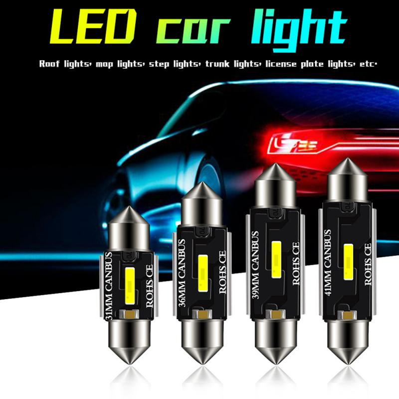 Ampoule CSP C5W C10W Canbus   Lampe très brillante, 31mm 36mm 39mm 41mm, voiture sans erreur, lecture intérieure, lampe de porte automatique TSLM1
