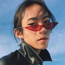 Small Triangle Cat Eye Sunglasses Women Fashion Brand Design Vintage Cat Eyeglasses Female Ladies Su