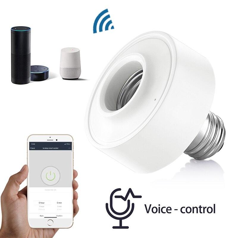 WiFi Light Socket Lamp Holder for E27 Led Bulb Google Home Amazon Echo Alexa Voice Control App Timer Light for Tuya Smart Life