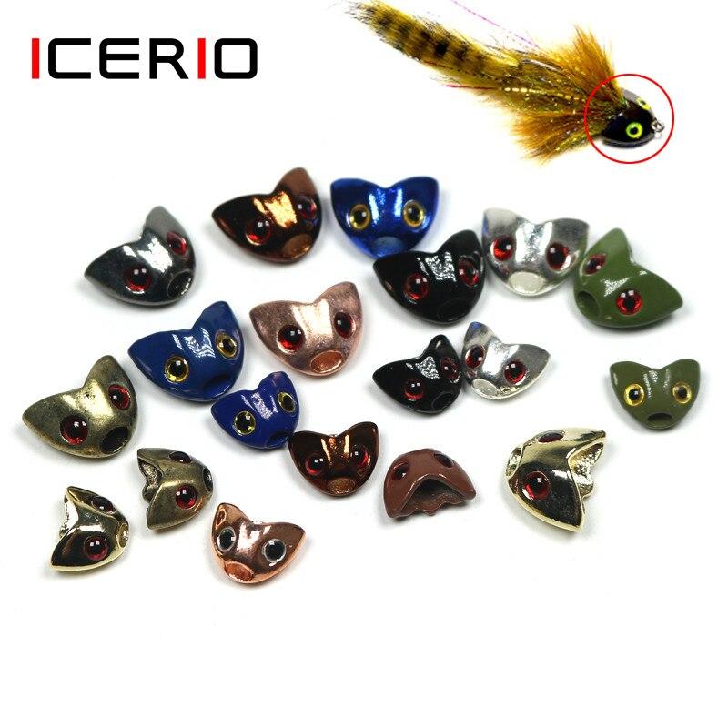 ICERIO-خوذة مع نحت جمجمة السمكة ، 50 قطعة ، رأس ثقيل ، أنبوب ، خطافات ربط ، مواد ربط