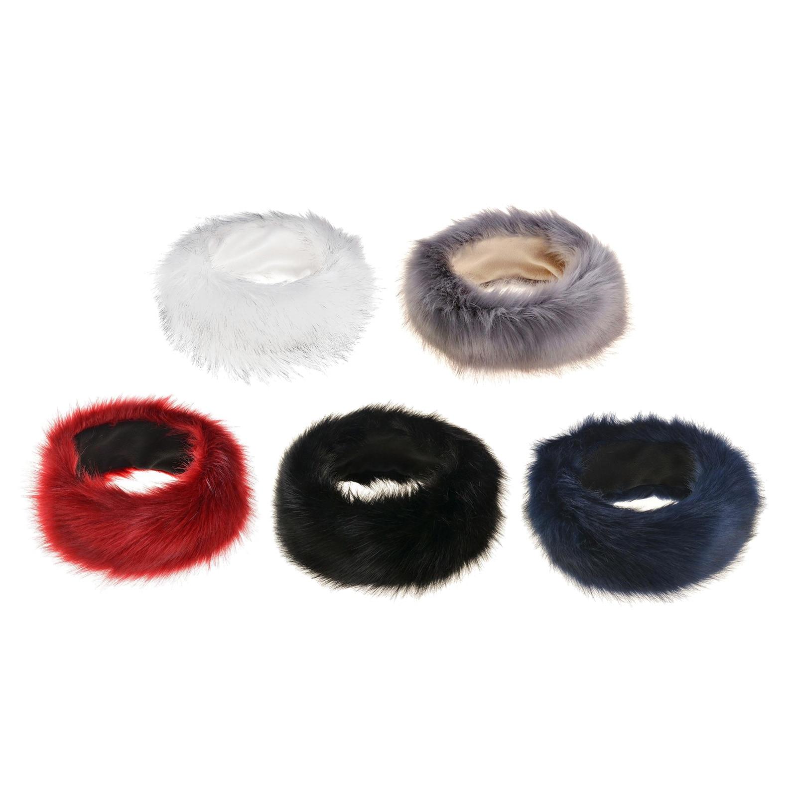 Inverno grosso bandana para homens de pele hairband russo peludo earmuffs elástico turbante largo headwear esqui chapéus acessórios
