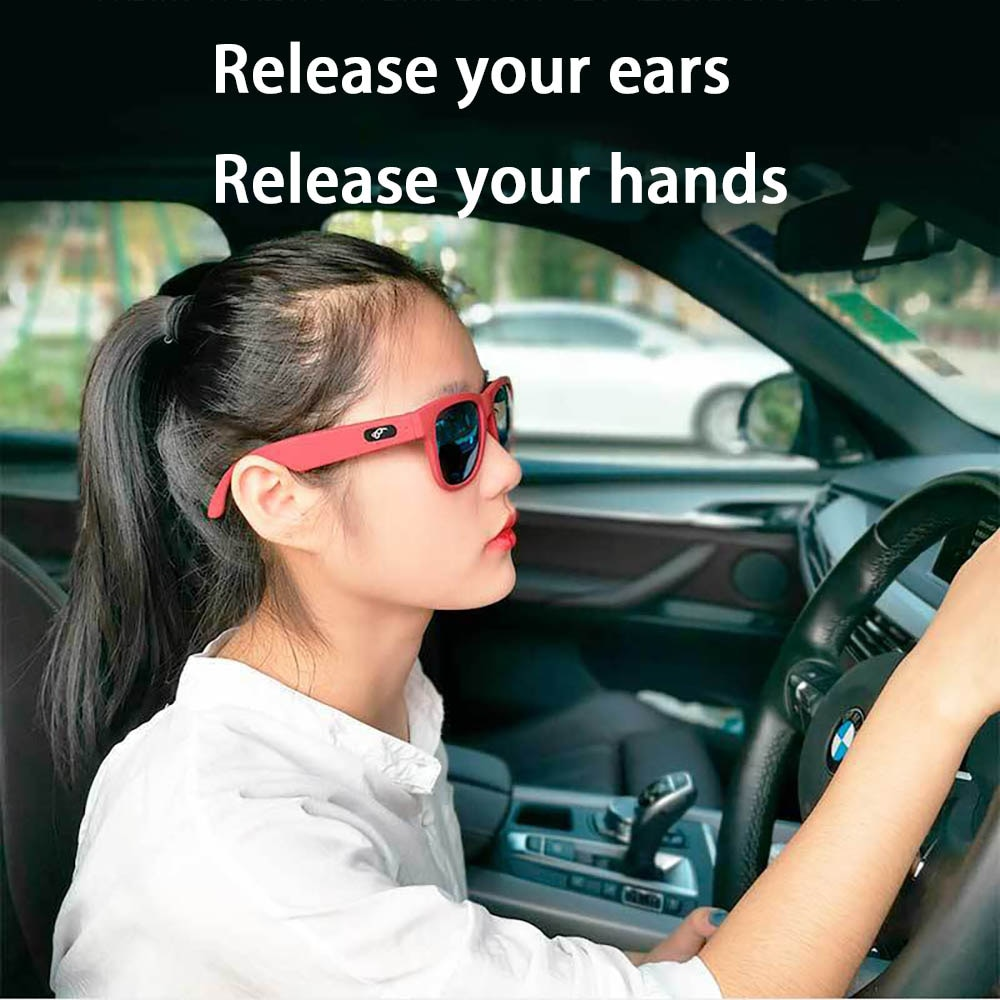 Smart Audio Sunglasses Bone Conduction Glasses Open Ear Headphones Music & Hands-Free Calling Touch Control Eyeglasses enlarge