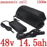 48V 500W 750W 1000W 1500W ebike battery pack 48V 15AH lithium battery pack 48V 15AH electric bicycle battery use panasonic cell