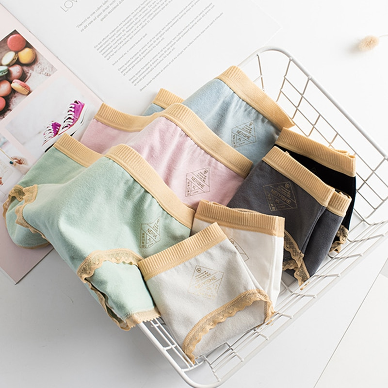 Women Underwear Panties New Cotton Panties Soft Lace Briefs Female Mid-Waisted Underpants Sexy Lingerie Girl Briefs L-XXL women cotton underwear sexy lace panties mid waist thread women s underpants cute girl s panties seamless soft briefs lingerie