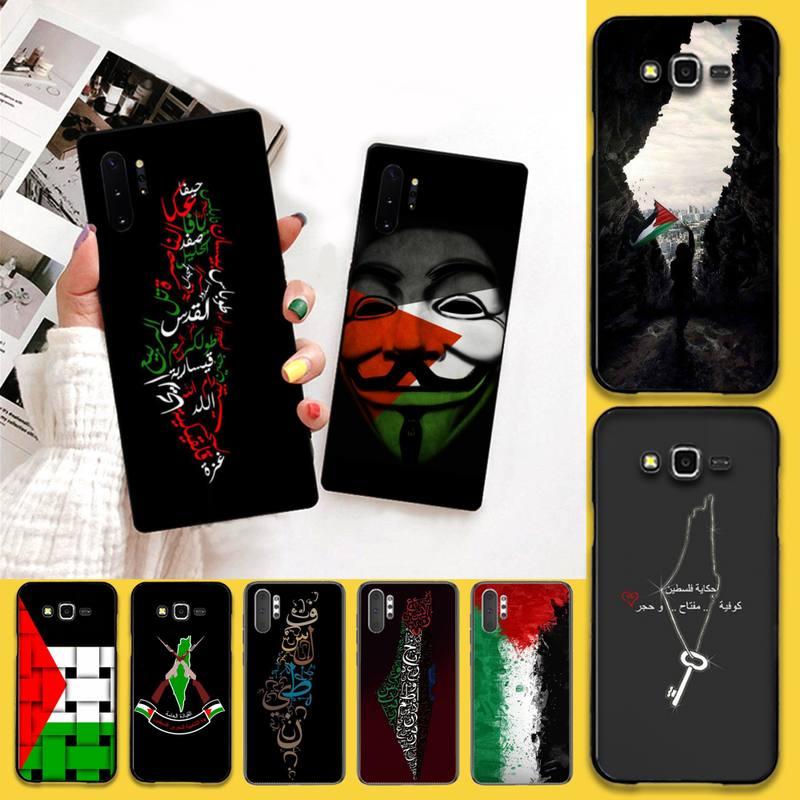 HPCHCJHM Cute Palestine Broadsword Black Soft Phone Case Capa For Samsung Galaxy J7 J8 J6 Plus 2018 Prime Note 7 8 9 10 pro
