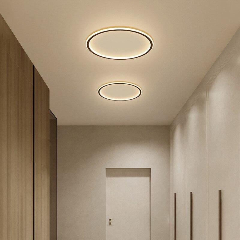 Lámpara de pasillo redondo nórdico lámpara de Led de techo Dia 20/30 cm montadas creativas luces de techo de cocina lámpara cuadrada para el hogar interior