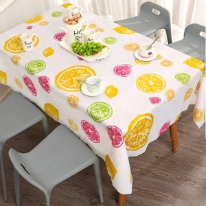 Waterproof Oil Proof Table Cloth Kitchen Decorative Dining Table Cover manteles Rectangular Tablecloth Tapete