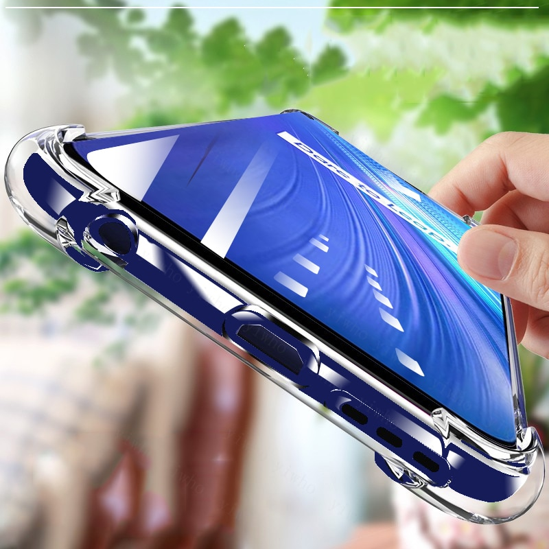 Shockproof Silicone Phone Case for OPPO Realme 6 Pro Camera lens Protection Case For Realmi Reslme 6