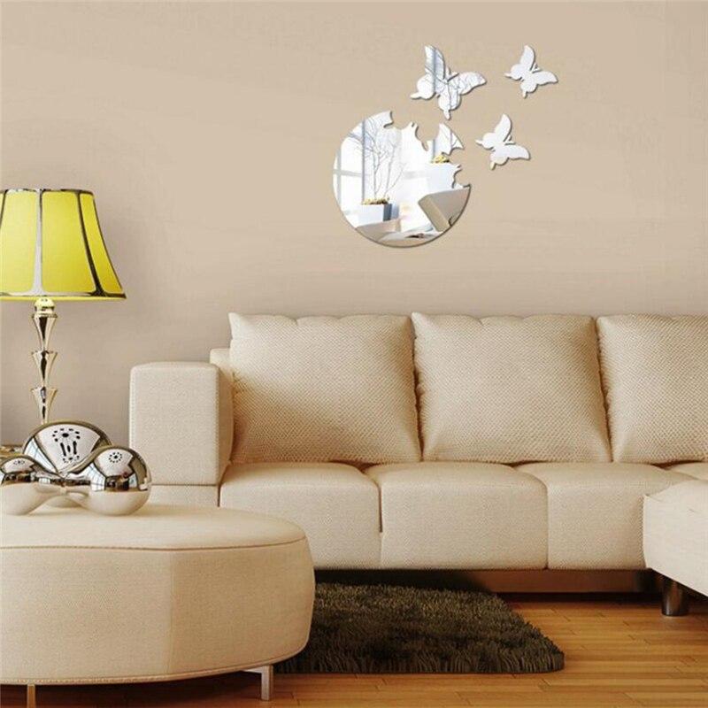 3D motyl dekoracyjny akrylowa ściana lustrzana naklejki naklejki do dekoracji wnętrz salon sypialnia toaleta wc ścienne sztuka na ścianę naklejka