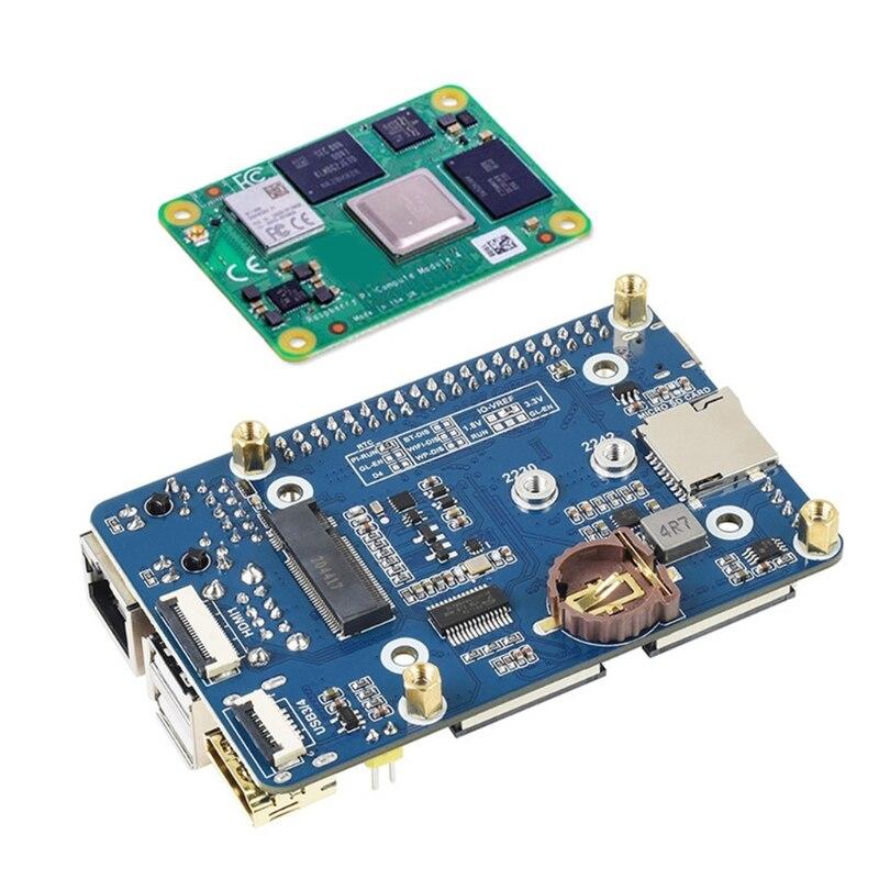 لوحة قاعدة صغيرة لتوت العليق Pi وحدة الحساب 4 ث/مقبس CM4 القياسية و 40 دبوس رأس GPIO على متن متعددة الاتصال
