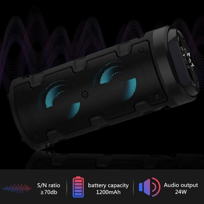wireless bluetooth speaker Portable sound column  high power subwoofer FM radio outdoor speaker K song music center support USBT enlarge