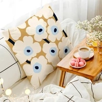double sided print cushion cover decorative polyester flower throw pillow cover 4545 home decor square living room pillowcase