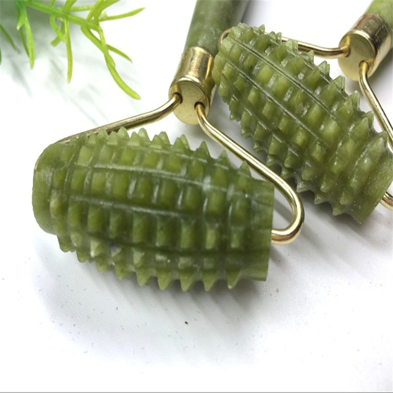 5 style Jade Stone Roller Needle Derma Face Arms Neck Massage Roller Face Slimming Body Head Neck Massage Tools