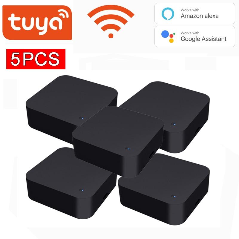 5 قطعة Tuya WiFi IR التحكم عن بعد ل مكيف الهواء التلفزيون ، المنزل الذكي الأشعة تحت الحمراء العالمي تحكم عن بعد ل اليكسا ، جوجل المنزل