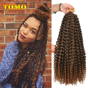 """TOMO 14 18 2"""" Passion Spring Twists Synthetic Crotchet Hair Extensions Ombre Crochet Braids Kinky Curly Twist Braiding Hair Bulk"""
