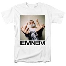 Bloodhoof-camiseta nueva de hilos musicales no oficial Eminem Slim Shady The Middle Finger, color blanco, talla asiática