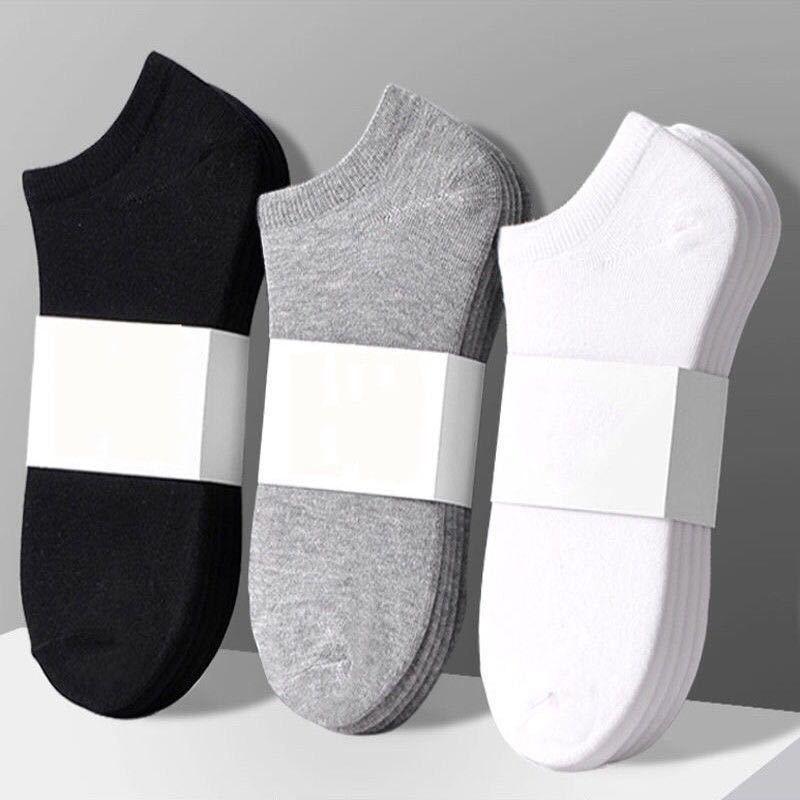 5/10 пар/партия, мужские носки из хлопка, большие size37-44High, качественные Повседневные Дышащие носки-башмачки, короткие мужские носки, летние му...