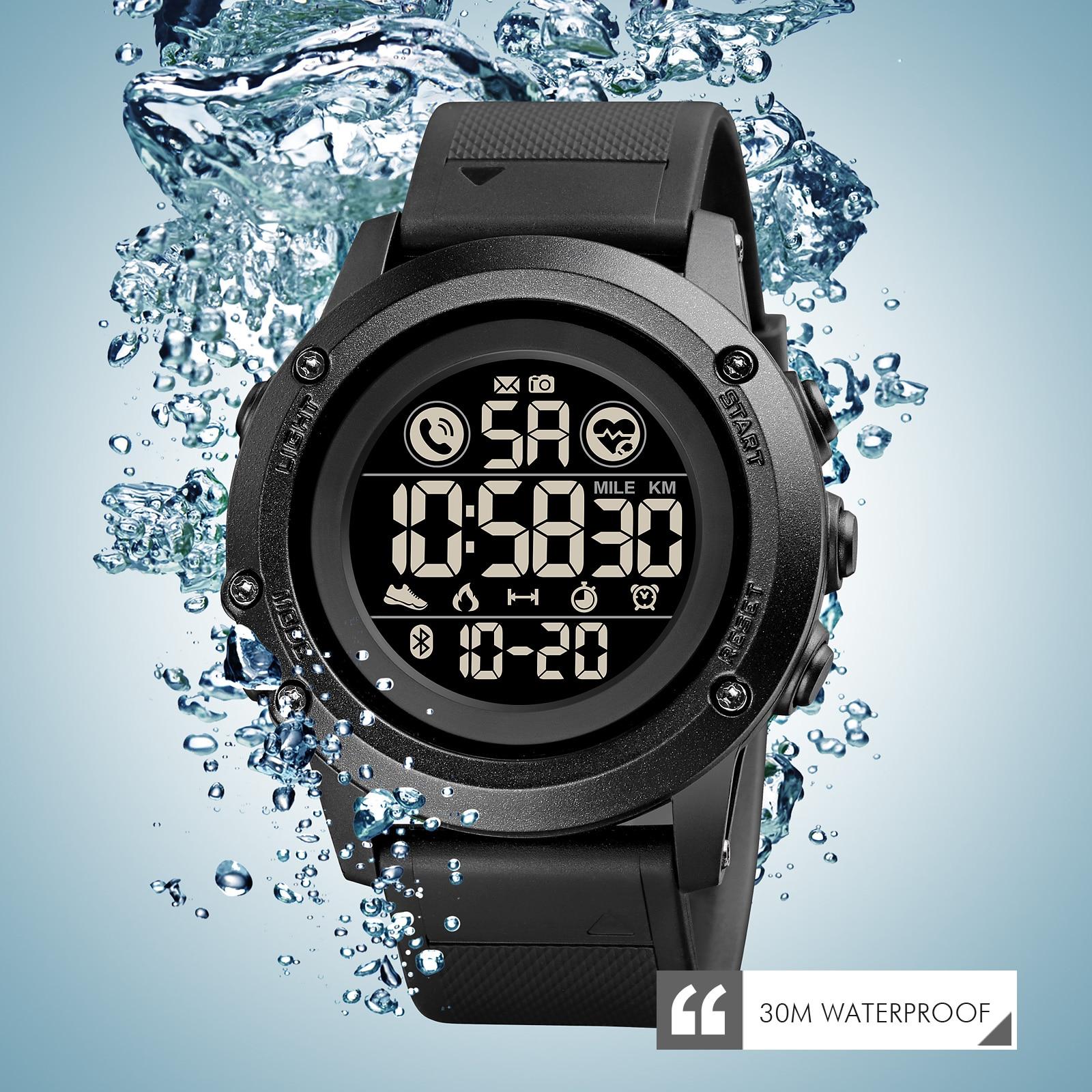 Luxury Smart Watch Men Digital Sport Dress Military Clock Fashion Call Remind Sleeping Monitor Smart