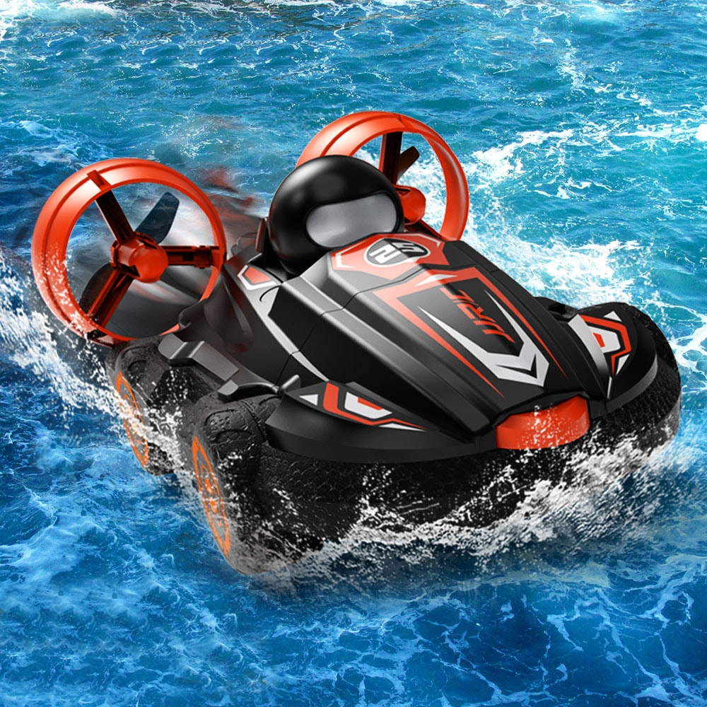 JJRC Q86 2.4G 2 IN 1 Amphibious RC Drift Car Remote Control Hovercraft Speed Boat RC Stunt Car Outdo